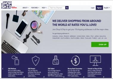 أقوم بإنشاء حساب بريميوم علي موقع Shop  amp; Ship للتسوق أونلاين