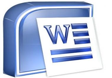 الكتابة على ملف word حتى 40صفحة عربي و انجليزي و فرنسي