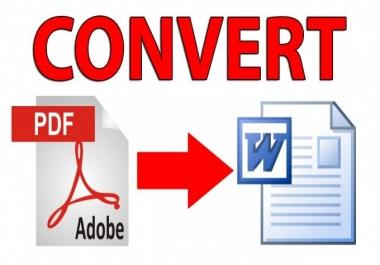 أقوم بتحويل ملفات pdf إلى ملفات Word