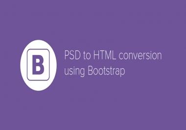 تحويل ملف psd الى موقع Html Css Bootstrap