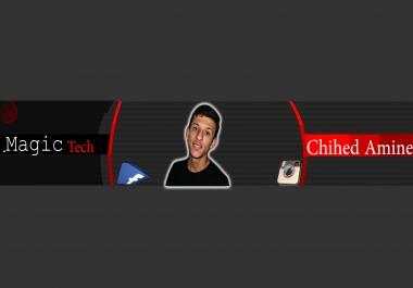 تصميم banner لليوتيوب او الفيسبوك