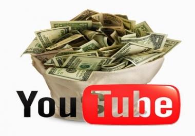 سوف عمل قناة على اليوتيوب متصلة بجوجل ادسنس لربح من10دولارات حتى 1000