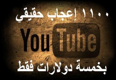1100 إعجاب حقيقي من أي دول تريدها لأي فيديو عاليوتيوب