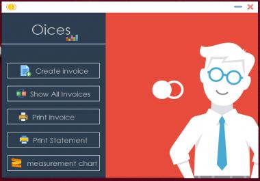 برمجة برنامج فواتير لشركة او مكتب