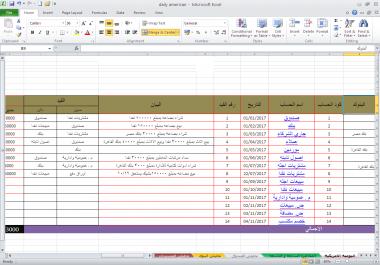 اعداد المعادلات الحسابية الخاصة ببرنامج الاكسيل وتنظيم امور الشركة عمل اوراق الشيكات