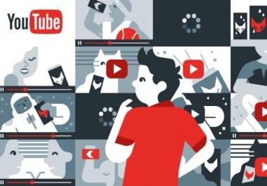 عرض متكامل لقناة اليوتيوب 100 مشترك ولايك ومشاهدة وتعليق   سعر الخدمة :5$
