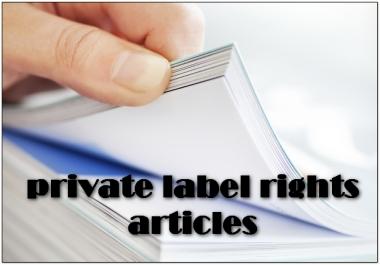 اعطائك اكثر من 10000 مقال انجليزي PLR في جميع المجالات