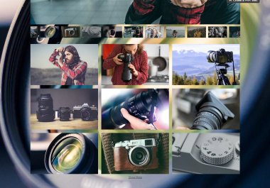 اصمم لك موقع بتصميم احترافى عالى الدقة لمصورى الفوتوغرافيا
