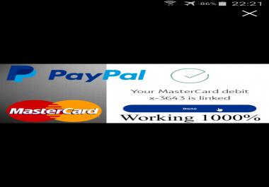 فتح حساب بايبال مفعل بماستر كارد جاهز لارسال و استقبال الاموال