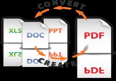 تحويل جميع أنواع الملفات إلى صيغة PDF . والعكس .