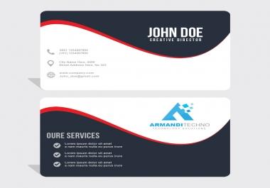 تصميم بطاقات اعمال باحترافية وبدقة عالية Business Card.