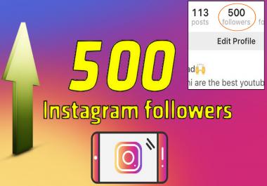 ارسال 500 مشترك حقيقي لحسابك على الانستغرام