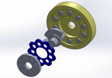 رسم اي نموذج باستخدام solidworks