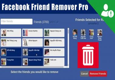 حذف عدد معين من الاصدقاء على الفيس بوك دفعة واحدة