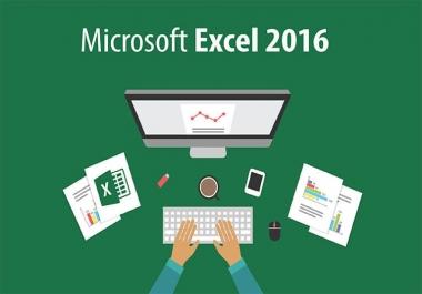 إنشاء ملف MS EXCEL متضمنا لجداول بيانات ومبيانات إحصائية.