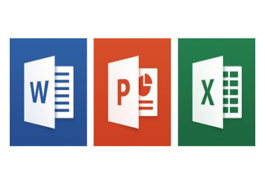 الكتابة وادخال البيانات Word  Excel  Power Point عدد20 صفحة