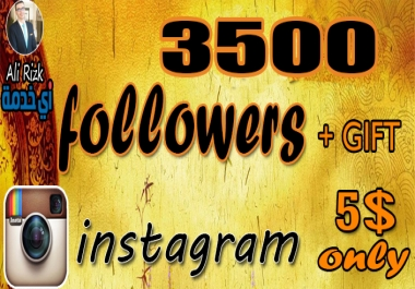 اضافة 3500 متابع انستجرام   حقيقين خليج   عرب   اجانب   مقابل 5$ فقط