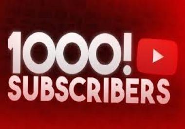 1000 مشترك على اليوتيوب فقط ب 5$ دولار