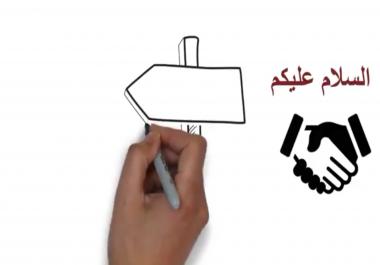 فيديو بتقنية الوايت بورد WhiteBoard بسعر تنافسي  5$ للدقيقة