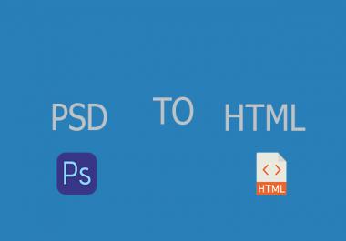 psd to html تحويل ملف psd الي html