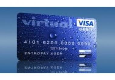 أحصل على فيزا إفتراضية صالحة للبايبال وكل شيء بقيمة 10$
