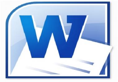 كتابة وتفريغ المستندات على صفحات Word