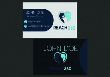تصميم بطاقتي عمل احترافية مقابل $5 فقط