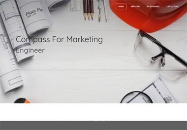 تصميم سيرة ذاتية عبارة عن موقع الكتروني يحمل اسمك