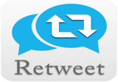 500 ريتويت لتغريدة معينة