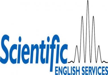 مراجعه لغويه للابحاث العلميه الانجليزيه