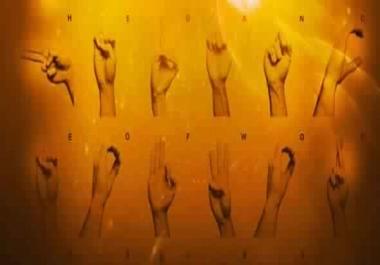 تقديم دروس في لغة الاشارة