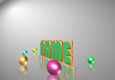 أحصل على خمس تصميمات رائعة ثلاثية الأبعاد لإسم من اختيارك