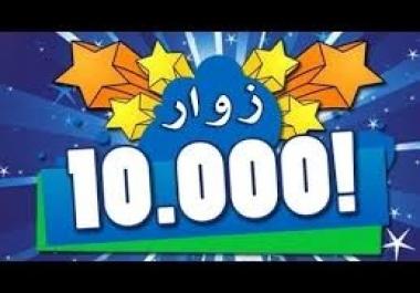 جلب 10000 زائر إلى موقعك أو مدونتك خلال يومين