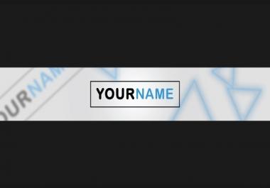 تصمم غلاف إحترافي لقنات على اليوتوب