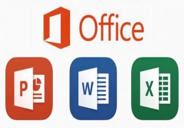 إدخال البيانات على word  Excel  PowerPoint