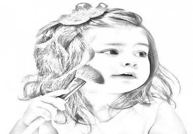 ساقوم بتحويل صورتك الى رسمة بالقلم الرصاص بجودة عالية