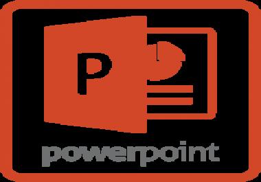 عمل عرض تقديمي powerpoint