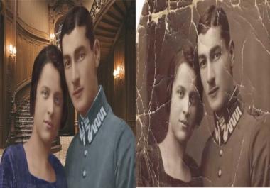 تلوين وترميم الصورالقديمة بالأبيض والاسودوتحويلها الى ألوان