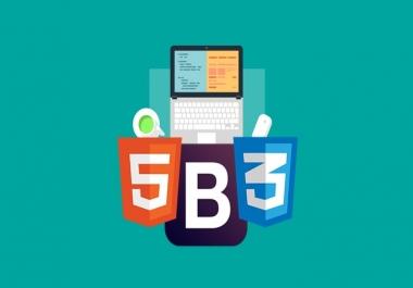 تصميم مواقع بإستخدام html5  css3  bootstrap4  jquery