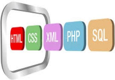 تصميم مواقع صفحة واحدة html css PHP