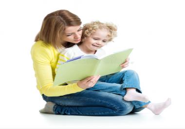 كتابة قصة قصيرة خاصة ومميزة لطفلك باللغة المختارة . فقط لطفلك