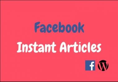 تركيب المقالات الفورية لموقع الورد بريس