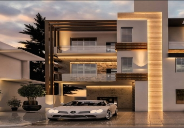 تصاميم معمارية داخلية وخارجية 3دي باحتراف