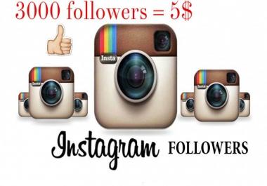 اضافة 3000 متابع لحسابك فى انستجرام ب 5$