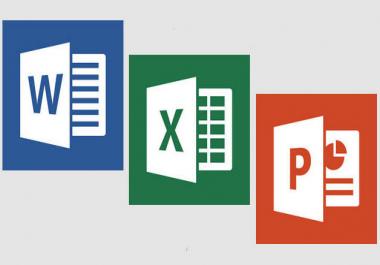 ادخال بيانات Word  Excel  Powerpoint