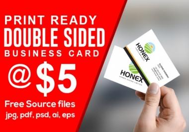 اصمم لك كارت شخصي.بطاقة اعمال.Business Card إحترافي