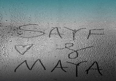 كتابة اسمك على مرآة رطبه بشكل جميل
