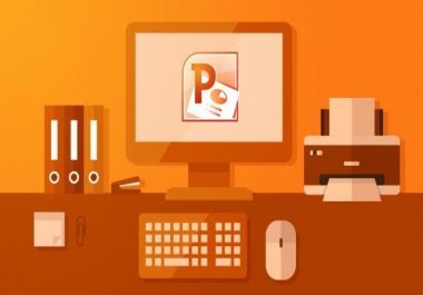 انتاج عروض تقديمية على PowerPoint مقابل 5$