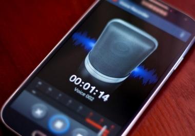 تسجيل صوتي لمنتج بالإنجليزية واحترافية