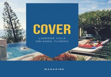 تصميم احترافي لغلاف مجلة Magazine Cover